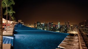 Sands SkyPark Infinity Pool-Night View