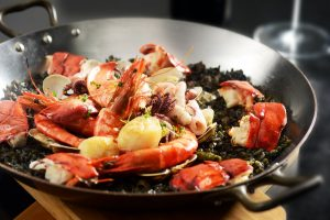 Squid Ink Whole Lobster Paella